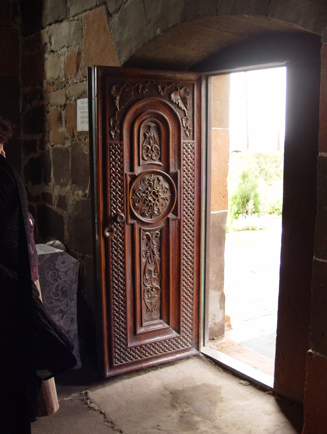 Entry Door Carved by Parishioner